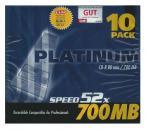 Rohlinge CD-R Platinum 700 MB 10er